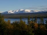 Utsikt från Polardog Mountain Lodge